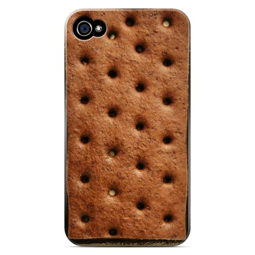 Geeks Designer Line (GDL) Apple iPhone 4/4S Matte Hard Back Cover - Ice Cream Sandwich