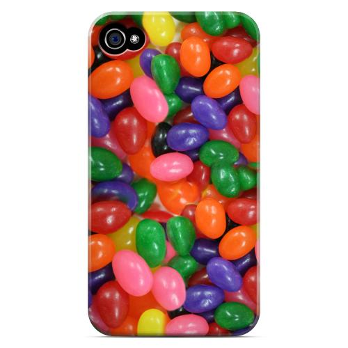 Geeks Designer Line (GDL) Apple iPhone 4/4S Matte Hard Back Cover - Assorted Jelly Beans