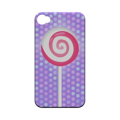 Geeks Designer Line (GDL) Apple iPhone 4/4S Matte Hard Back Cover - Pink Lollipop