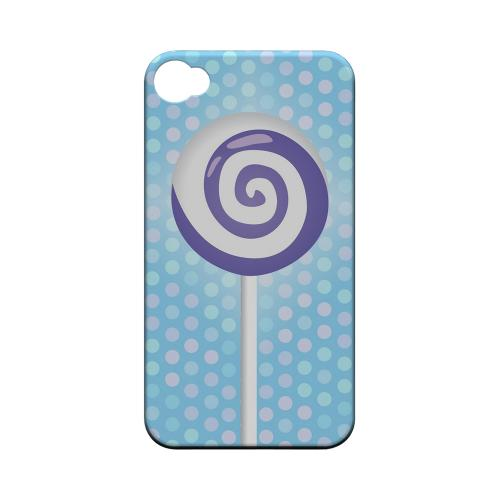 Geeks Designer Line (GDL) Apple iPhone 4/4S Matte Hard Back Cover - Purple Lollipop