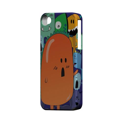 Geeks Designer Line (GDL) Apple iPhone 4/4S Matte Hard Back Cover - Orange Moob Close-Up