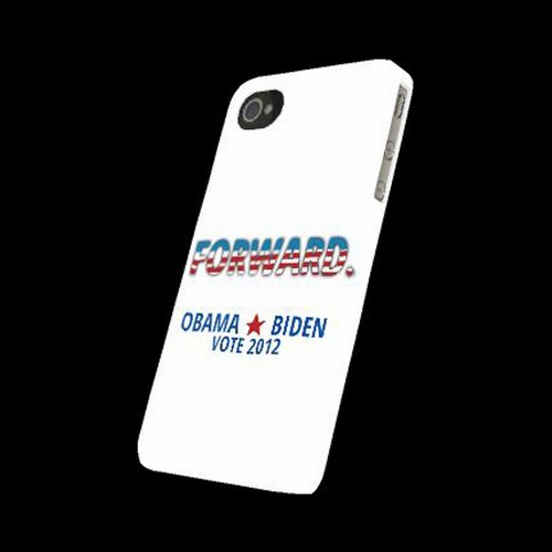 Geeks Designer Line (GDL) 2012 Election Series Apple iPhone 4/4S Matte Hard Back Cover - Obama. Biden. Forward.