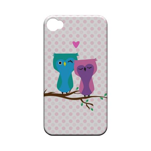 Geeks Designer Line (GDL) Owl Series Apple iPhone 4/4S Matte Hard Back Cover - Owl Love You Forever