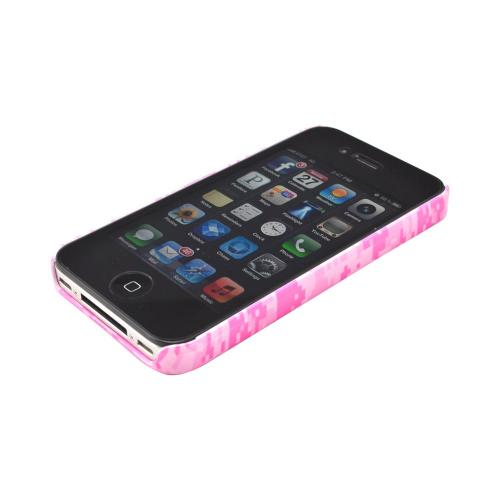 Geeks Designer Line (GDL) Apple iPhone 4/4S Matte Hard Back Cover - Pink Digital Camouflage