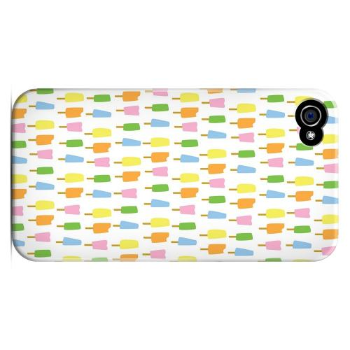 Geeks Designer Line (GDL) Apple iPhone 4/4S Matte Hard Back Cover - Assorted Popsicles