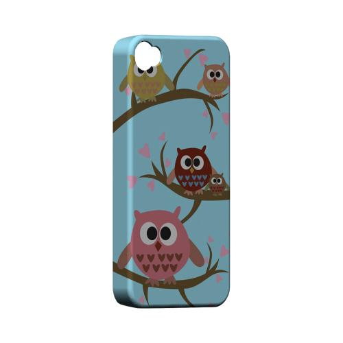 Geeks Designer Line (GDL) Owl Series Apple iPhone 4/4S Matte Hard Back Cover - Round Owl Hangout