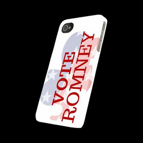 Geeks Designer Line (GDL) 2012 Election Series Apple iPhone 4/4S Matte Hard Back Cover - Red/ White/ Blue Romney