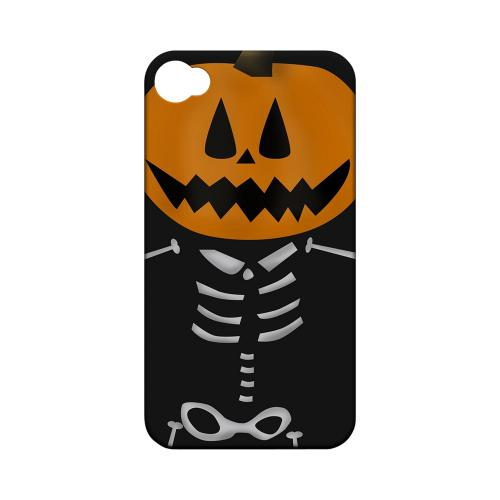 Geeks Designer Line (GDL) Apple iPhone 4/4S Matte Hard Back Cover - Skeleton w/ Jack o' Lantern Head