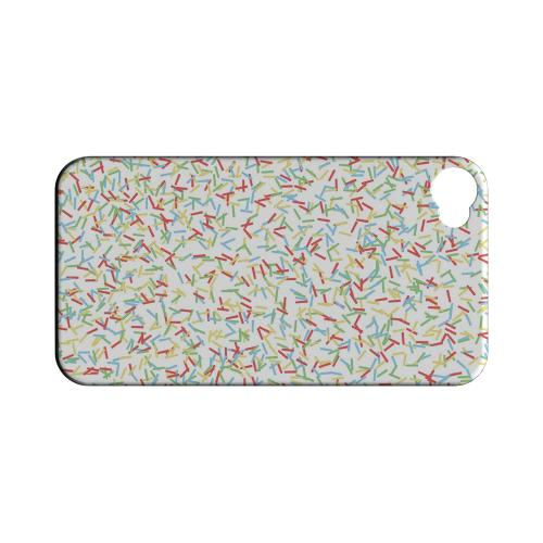 Geeks Designer Line (GDL) Apple iPhone 4/4S Matte Hard Back Cover - SPRINKLES!
