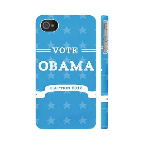 Geeks Designer Line (GDL) 2012 Election Series Apple iPhone 4/4S Matte Hard Back Cover - Vote Obama 2012