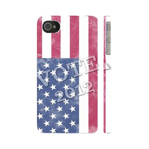 Geeks Designer Line (GDL) 2012 Election Series Apple iPhone 4/4S Matte Hard Back Cover - Vote America