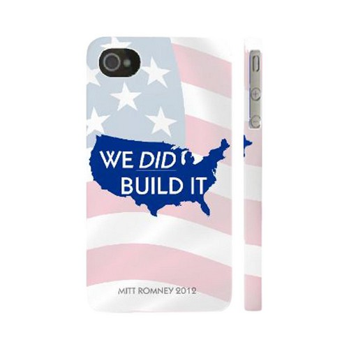 Geeks Designer Line (GDL) 2012 Election Series Apple iPhone 4/4S Matte Hard Back Cover - We Did Build It