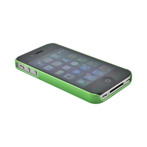 Apple iPhone 4/4S Slim Hard Back Cover - Green Gangnam Style