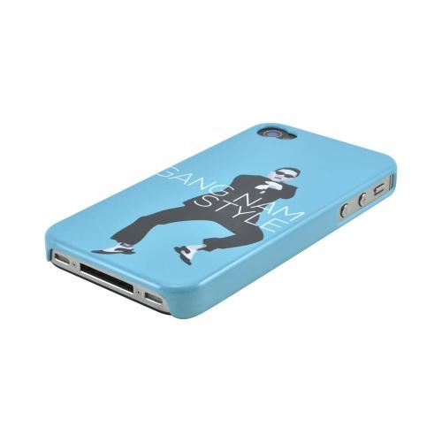 Apple iPhone 4/4S Slim Hard Back Cover - Teal Gangnam Style