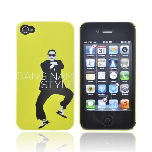 Apple iPhone 4/4S Slim Hard Back Cover - Yellow Gangnam Style