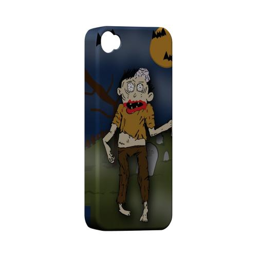 Geeks Designer Line (GDL) Apple iPhone 4/4S Matte Hard Back Cover - Zombie in Graveyard