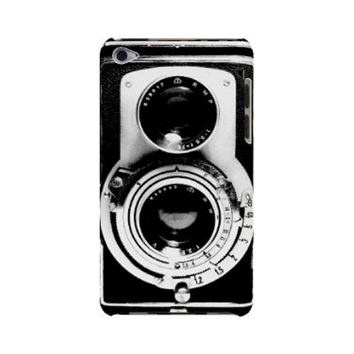 Geeks Designer Line (GDL) Retro Series Apple iPod Touch 4 Slim Hard Back Cover - Black Film Noir Camera