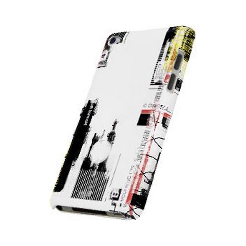 Geeks Designer Line (GDL) Retro Series Apple iPod Touch 4 Slim Hard Back Cover - Industrial District