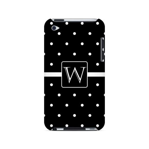W on Classic Mini Polka Dots - Geeks Designer Line Monogram Series Hard Case for Apple iPod Touch 4