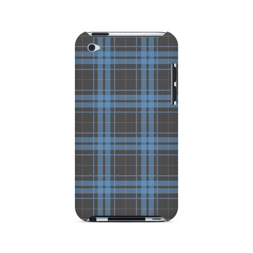 Blue/ Gray/ Pink Plaid - Geeks Designer Line Checker Series Hard Case for Apple iPod Touch 4