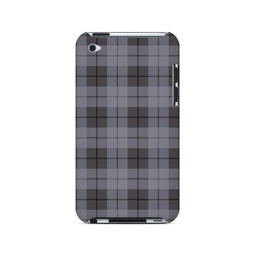 Grayish Plaid - Geeks Designer Line Checker Series Hard Case for Apple iPod Touch 4