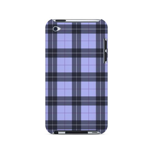 Scottish-Like Plaid in Purple - Geeks Designer Line Checker Series Hard Case for Apple iPod Touch 4