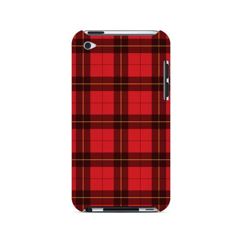 Scottish-Like Plaid in Red - Geeks Designer Line Checker Series Hard Case for Apple iPod Touch 4