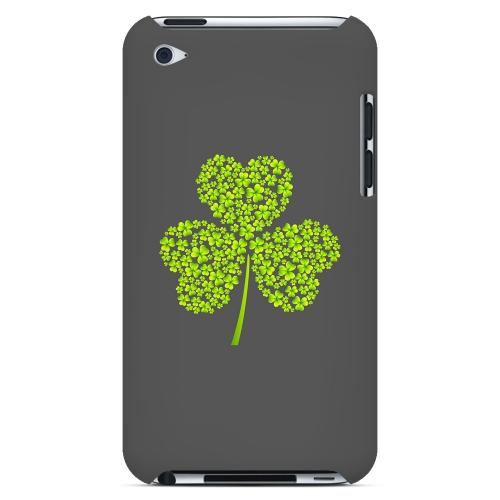 Clover Burst - Geeks Designer Line Holiday Series Hard Case for Apple iPod Touch 4