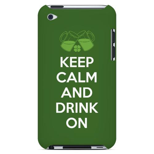 Drink On - Geeks Designer Line Holiday Series Hard Case for Apple iPod Touch 4