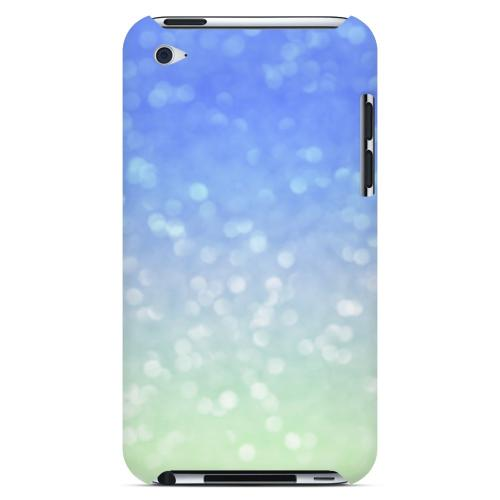 Menthe Blue - Geeks Designer Line Ombre Series Hard Case for Apple iPod Touch 4