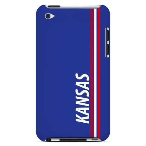 Kansas - Geeks Designer Line March Madness Series Hard Case for Apple iPod Touch 4