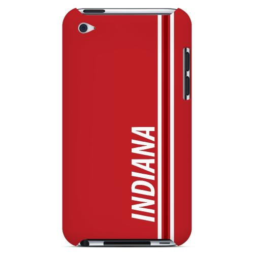 Indiana - Geeks Designer Line March Madness Series Hard Case for Apple iPod Touch 4