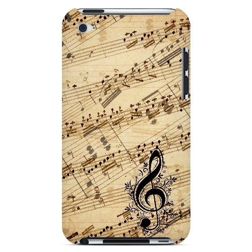 Allegro Grunge - Geeks Designer Line Music Series Hard Case for Apple iPod Touch 4