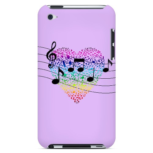 Earful of Color - Geeks Designer Line Music Series Hard Case for Apple iPod Touch 4