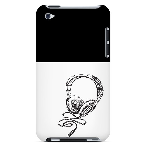 Head Bobbing Black - Geeks Designer Line Music Series Hard Case for Apple iPod Touch 4