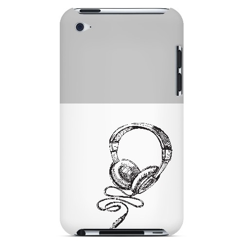 Head Bobbing Gray - Geeks Designer Line Music Series Hard Case for Apple iPod Touch 4