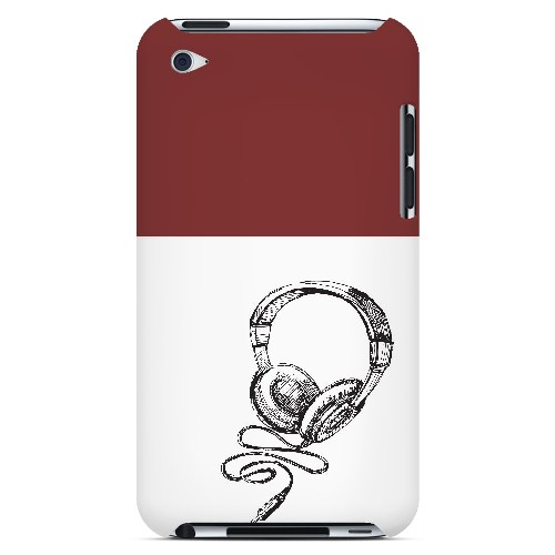 Head Bobbing Maroon - Geeks Designer Line Music Series Hard Case for Apple iPod Touch 4