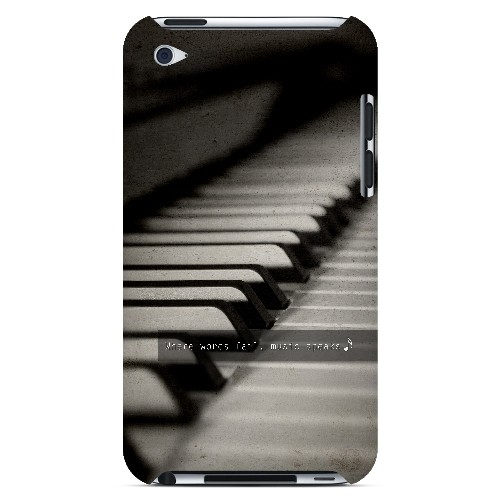 Music Speaks - Geeks Designer Line Music Series Hard Case for Apple iPod Touch 4