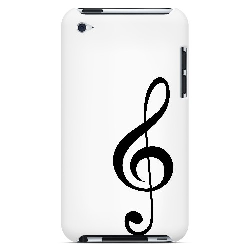 Simple Treble Clef - Geeks Designer Line Music Series Hard Case for Apple iPod Touch 4
