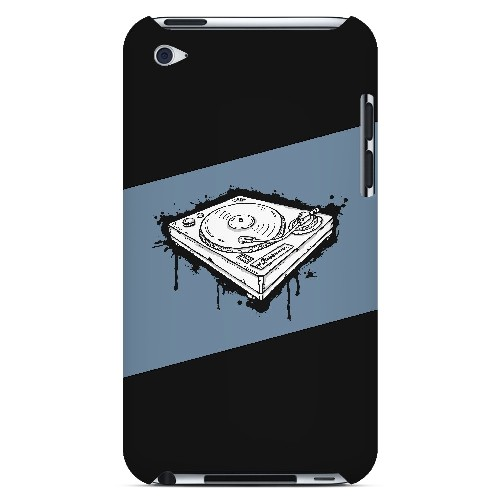 Wheel of Steel Blue - Geeks Designer Line Music Series Hard Case for Apple iPod Touch 4