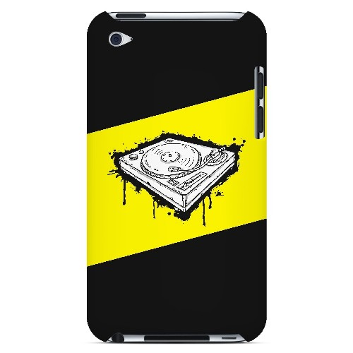 Wheel of Steel Yellow - Geeks Designer Line Music Series Hard Case for Apple iPod Touch 4