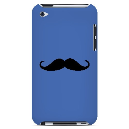 Mustache Blue - Geeks Designer Line Humor Series Hard Case for Apple iPod Touch 4