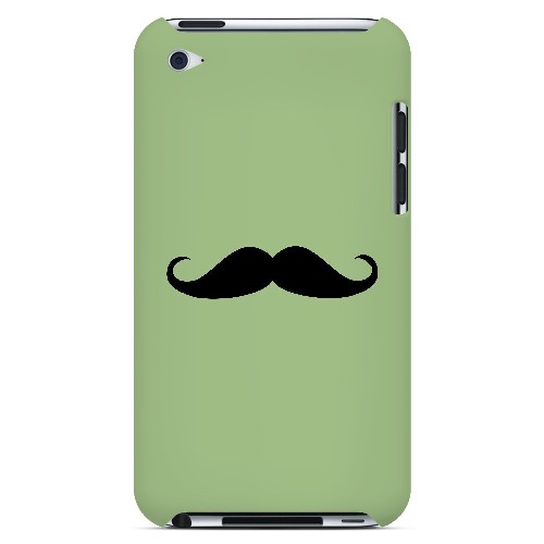 Mustache Greenish - Geeks Designer Line Humor Series Hard Case for Apple iPod Touch 4