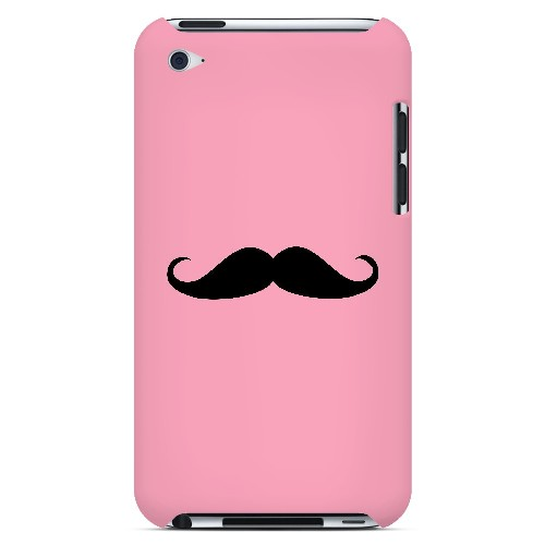 Mustache Pink - Geeks Designer Line Humor Series Hard Case for Apple iPod Touch 4