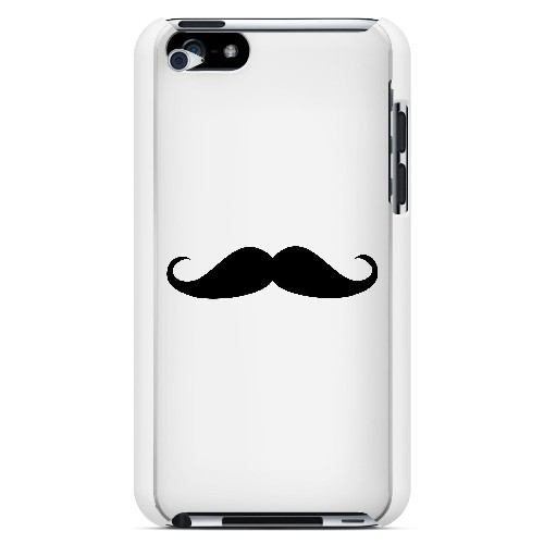 Mustache White - Geeks Designer Line Humor Series Hard Case for Apple iPod Touch 4