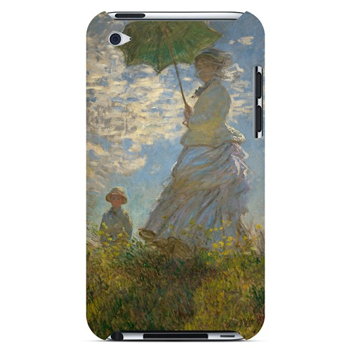 Woman with a Parasol - Madame Monet and Her Son by Claude Monet - Geeks Designer Line Artist Series Hard Case for Apple iPod Touch 4