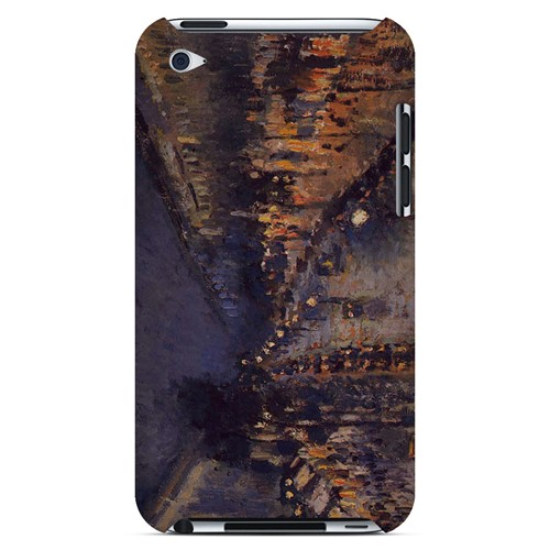 Boulevard Montmarte at Night by Camille Pisarro - Geeks Designer Line Artist Series Hard Case for Apple iPod Touch 4