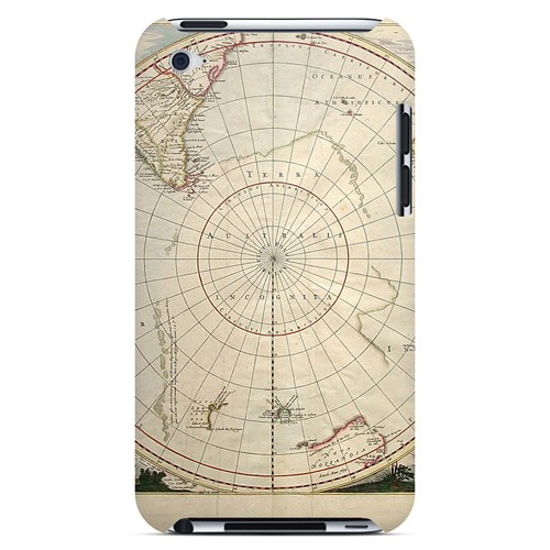 Terra Australis Incognita - Geeks Designer Line Map Series Hard Case for Apple iPod Touch 4