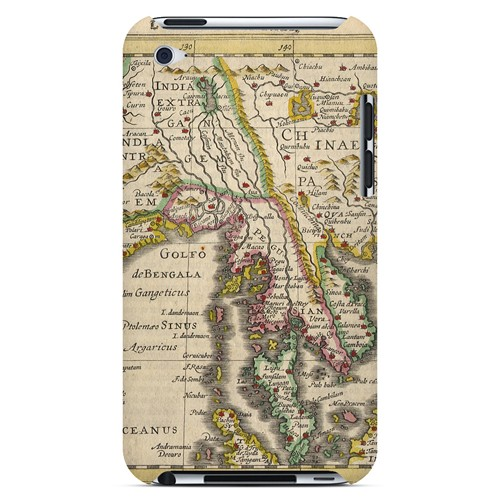 Indie Orientale - Geeks Designer Line Map Series Hard Case for Apple iPod Touch 4