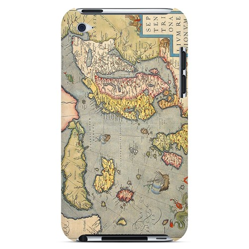 Ancient Map of Europe - Geeks Designer Line Map Series Hard Case for Apple iPod Touch 4